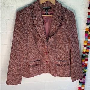 Norton McNaughton Pink Tweed Blazer Size 12